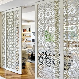 Movable aluminium partition wall with various patterns