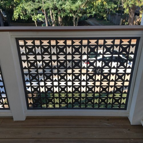 Exterior shell of the renovated Perforated Facade structure/Decoration Balcony Fence Panels