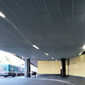 Decorative acoustic aluminum metal ceiling for gymnastic hall