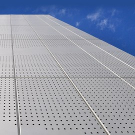 Abstract perforated patterns powder-coated aluminum exterior facade for school buildings