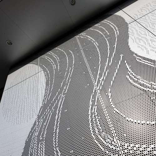 custom sahpe perforated punching hole panels for building facade decoration cladding