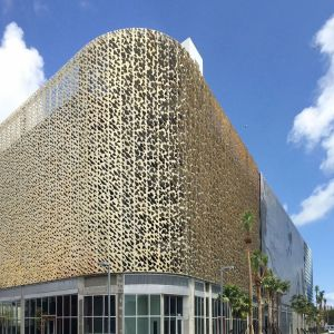 3D aluminum Fluorocarbon paint facade/CNC laser cutting art aluminum cladding