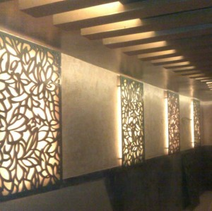 CNC laser cutting aluminum architectural 3D wall panels durable designs for walls