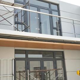 Durable customized aluminum cladding panels/PVDF coating aluminum facade  for container decoration