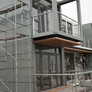 container facade wall cladding powder coated aluminum facade wall panels