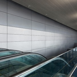 Mall Exterior aluminum panels facade with well drawing design