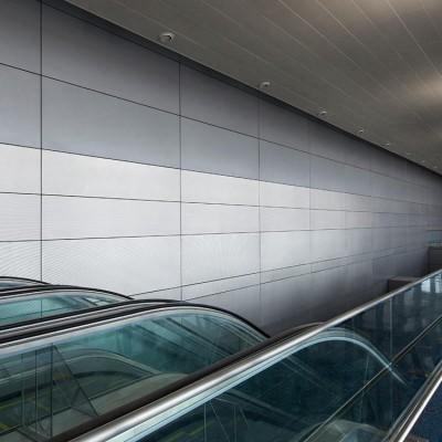 Decorative pvdf coating aluminum facade cover single aluminum board