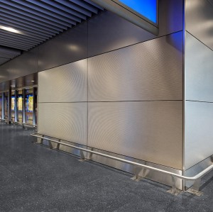 Metal contorted solid aluminum panels for airport/Decorative wall cladding