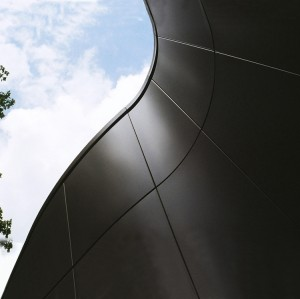 Decorative exterior building material wall panel/Metal curved roof on industrial building