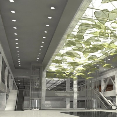 conference hall Decorative Interior wall cladding and sound absorbed aluminum ceiling