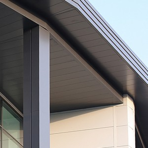 2.5mm coated decorative Roman Columns for building are clad in aluminum