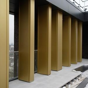 External square column shaped Ivory aluminum Weld aluminum cover