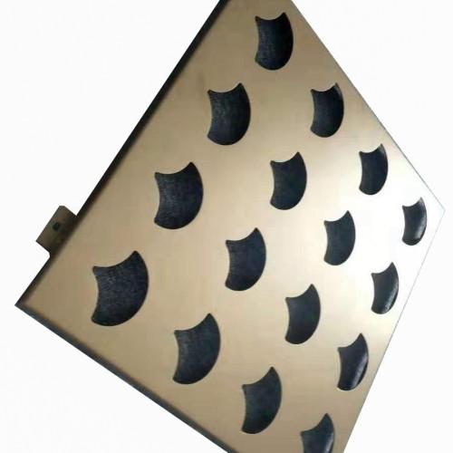 curtain wall office building fluorocarbon/powder coating aluminum punching veneer