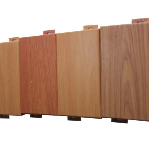 China aluminum Imitation wood grain exterior laser cut panels for building