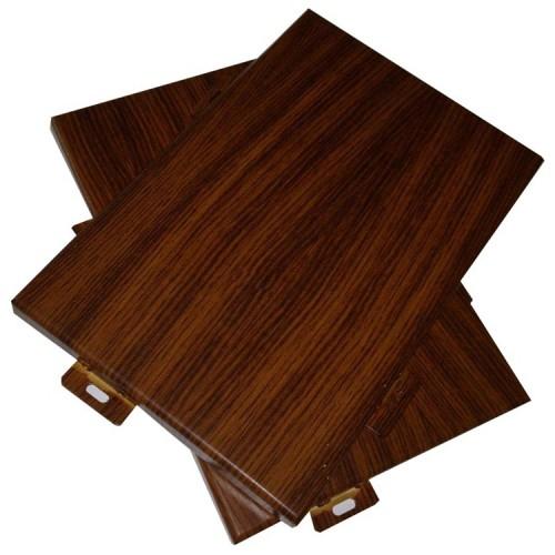 China aluminum Imitation wood grain exterior laser cut panels for building
