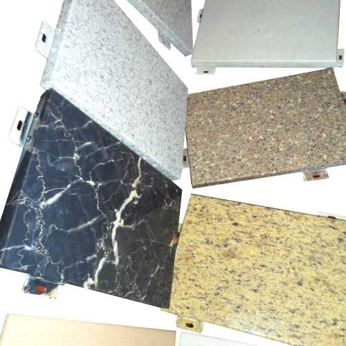 Imitation stone Porous outer wall aluminum veneer in villa decoration