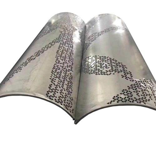 Fluorocarbon paint, powder spraying, copper wire drawing carved aluminum veneer for architectural decoration