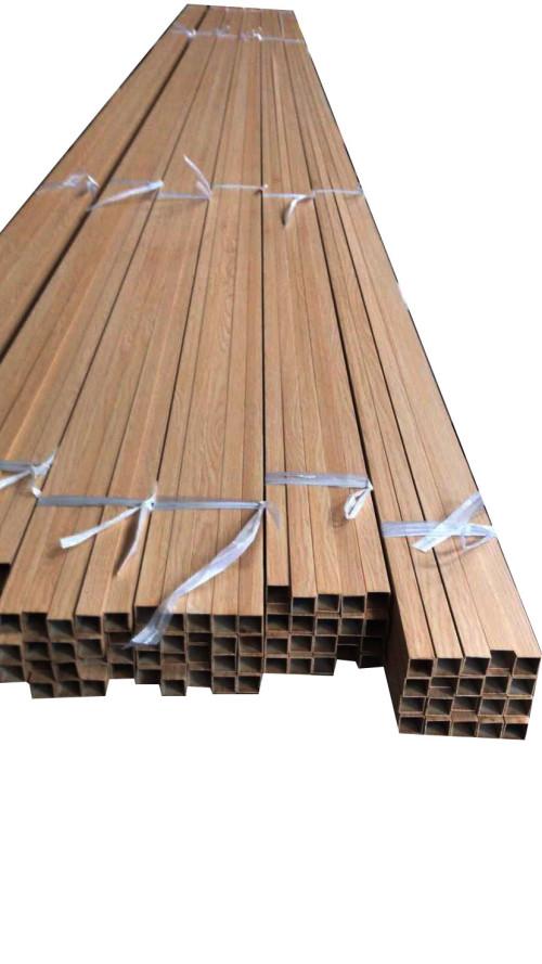 wood grain finish Electrophoretic oxidation aluminum square hollow profile tube for decoration