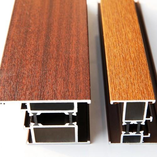 wood grain finish  aluminum Hollow pipe square tube for decoration
