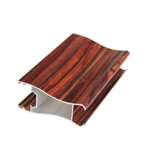 Wood grain aluminum  rectangle/square  pipe/tube