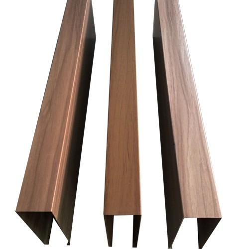 Interior decoration with wood grain  aluminum rectangular tube
