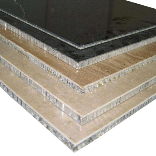 Factory price free backed stone sample aluminium honeycomb panel for Exterior wall decoration