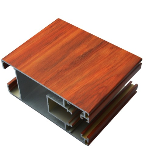 wood grain finish  aluminum Hollow pipe square tube for curtain (wall)