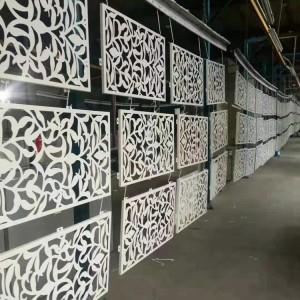 艺术雕刻铝单板室内外装修屏风时尚美观高端大气