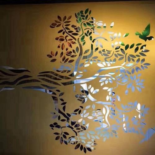 酒店外墙铝花格10mm激光雕刻铝板