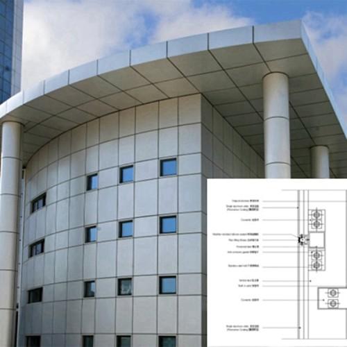 建筑用商场外墙装饰用氟碳喷涂铝单板,办公室摩天大楼外墙装饰铝单板