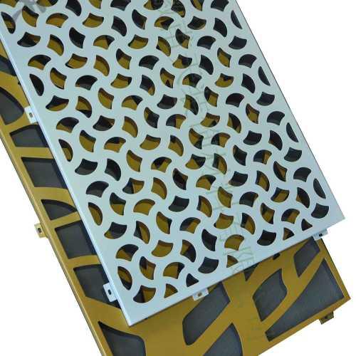 exterior wall decorative mouldings Laser cutting aluminum panels