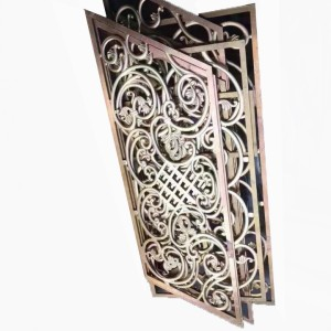 exterior decorative wall lights Laser cutting aluminum panels