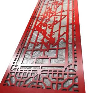 exterior decorative wall art Laser cutting aluminum panels