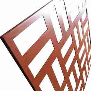 outdoor decorative wall art Laser cutting aluminum panels