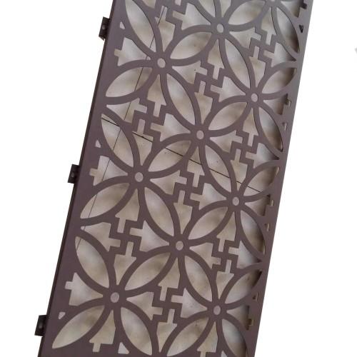 powder coating aluminum decor wood Laser cutting aluminum panels