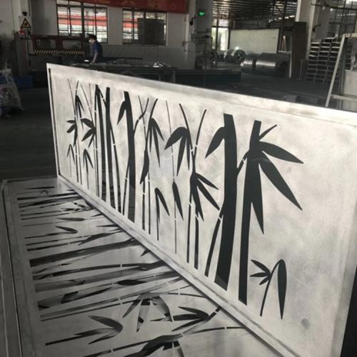 outdoor wall decor for patio Laser cutting aluminum panels