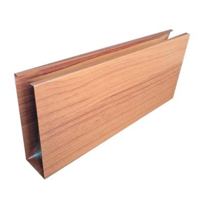 wood grain finish Electrophoretic oxidation aluminum square hollow profile tube for wall decoration