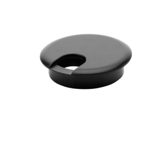 Black Plastic Desk Grommet Hole Cover Table Cable Tidy Wire PC Computer