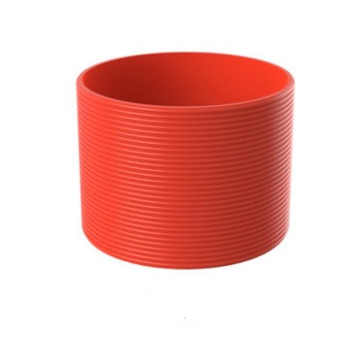 4 pcs Silicone Rubber Sleeve Bottle Cover Non-slip Heat-resistant for Water Glass