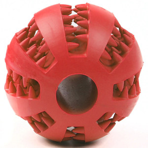 Dog Toy Rubber Ball for Puppy Pet Chew Dental Clean Teeth Healthy