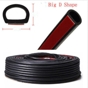 D Sections Rubber Hollow seal 3.2 Meter Self Adhesive