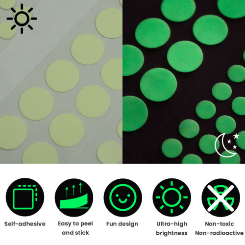 Glow in the dark sticker