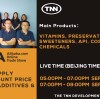 TNN's Chemicals and Food AdditivesLive Showon Alibaba!On SEP 03 and SEP 10!