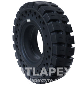 6.50-10 solid tire with apertures For electric forklift use with AP-LUG3  pattern