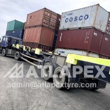 10.00-20 solid port trailer tire, quality approved by Shenzheng Port.