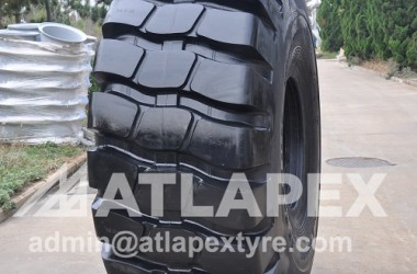 ATLAPEX New design of 29.5-25 E-4/L-4, Radial tire pattern with strong casing and sidewall.