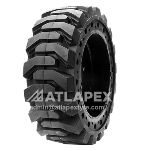 Solid Skid Steer Tires with AP-SKS pattern for skid steer use