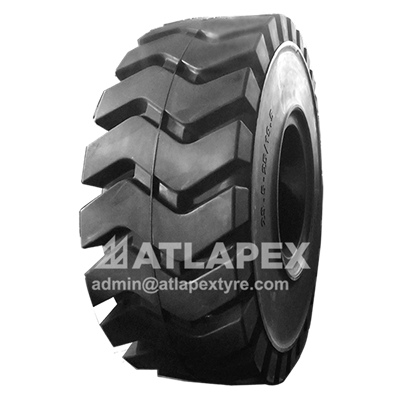 Solid 26.5-25 tyre with pattern AP-LMAX