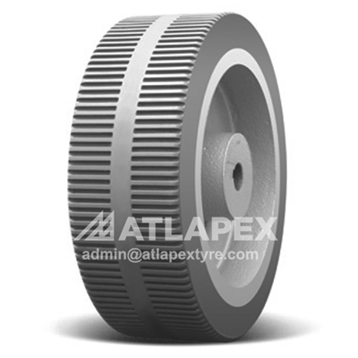 Solid tire 280X80 with SC-RB2 pattern