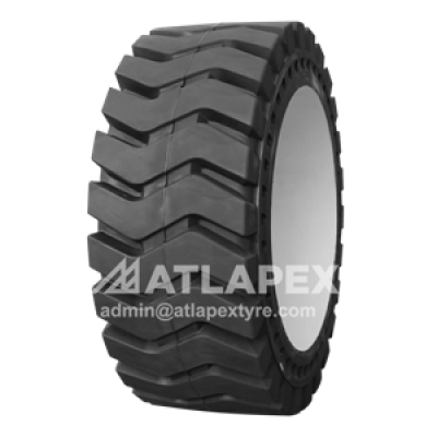 Mold-on Solid 26.5-25 tires with AP-LMAX pattern for loaders
